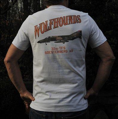 32nd TFS Wolfhounds white T-shirt  F-4E Phantom