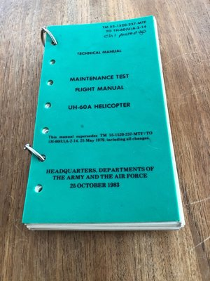 Flight Manual UH-60A Helicopter Technical Manual Maintenance Test