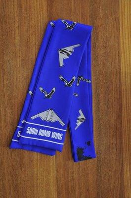 509th Bomb Wing pilot scarf B-2 Bomber aircraft