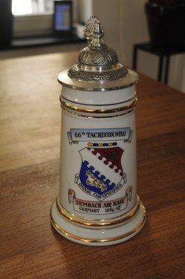Sembach AB Germany 1956-1957 Cold War Beer Stein Bier Krug 66th TRW