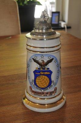 Spangdahlem AB Germany 1955-1959 Cold War Beer Stein Bier Krug 10th TRW