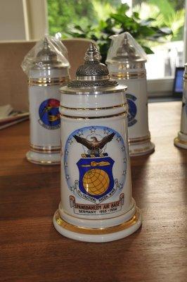 Spangdahlem AB Germany 1955-1956 Cold War Beer Stein Bier Krug 10th TRW