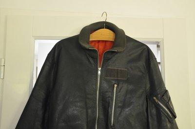 leather KLu fighter pilot jacket size 48