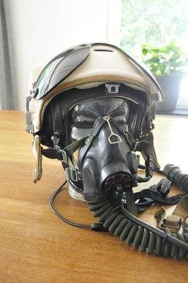 Russian ZSh-3 flight helmet + KM-32 oxygen mask + leather helmet with communications