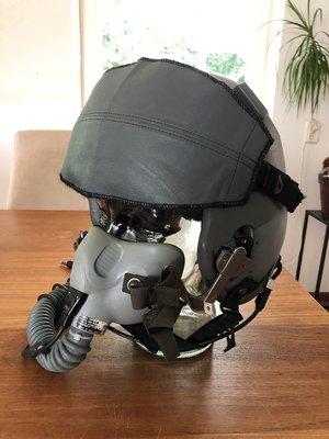 Gentex HGU-55/P flight helmet size Medium + MBU-12 oxygen mask
