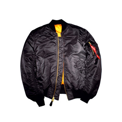 Alpha Industries MA1 flight jacket - black color