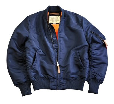 Alpha MA-1 VF 59 flight jacket - rep blue color - men - all season - SALE PRICE