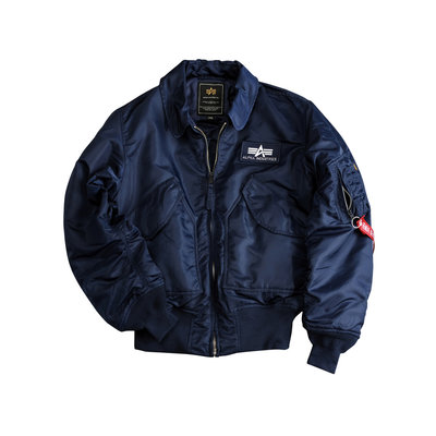 Alpha Industries CWU 45 flight jacket rep. blue - men - SALE PRICE!!