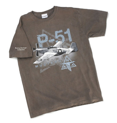 Boeing P-51 Mustang T Shirt Boeing Heritage Collection