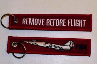 F-104 Starfighter keychain Remove Before Flight
