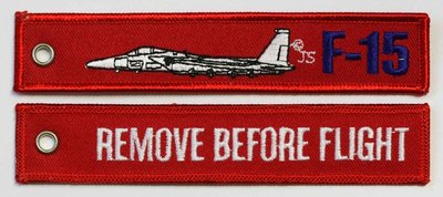 keyring F-15 Eagle Remove Before Flight embroided Key Chain