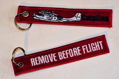 keyring Catalina Remove Before Flight embroided Key Chain