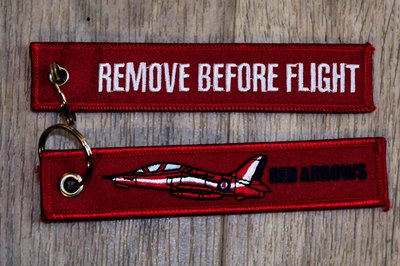 the Red Arrows keychain Remove Before Flight
