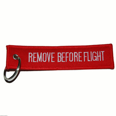 Remove Before Flight Keychain Keyring Key Chain