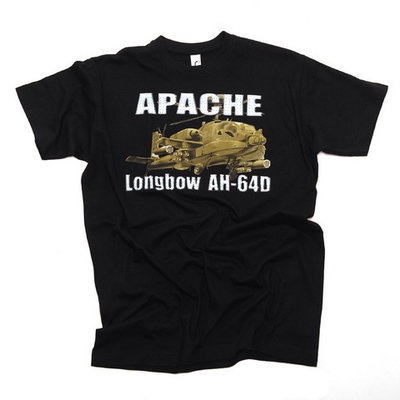 AH-64 Apache T Shirt - SALE PRICES (50% DISCOUNT) green or black