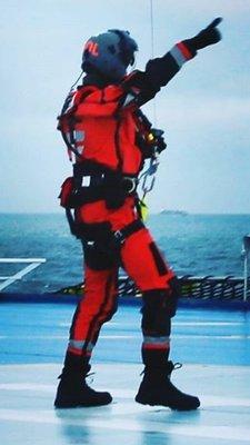 orange Nomex helicopter pilot suit MLD (original)