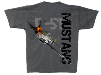 P-51 Mustang T Shirt Planes of Fame original