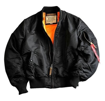 Alpha MA-1 VF 59 flight jacket - black color - men -all season - SALE PRICE