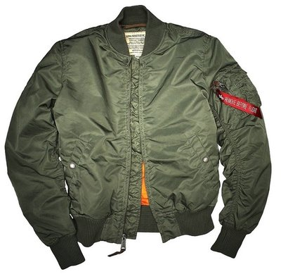 Alpha MA-1 VF 59 flight jacket - green color - men - all season - SPECIAL PRICE