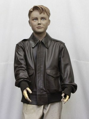 leather A-2 flight jacket for kids
