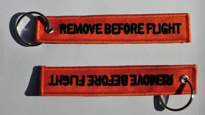 Remove before flight keychain (Orange color)
