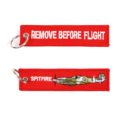 Spitfire keychain keyring Remove Before Flight