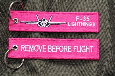 F-35 Lightning II (front) (pink) keychain keyring