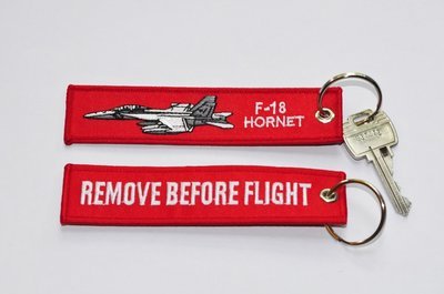 F-18 Hornet Keyring Remove before flight