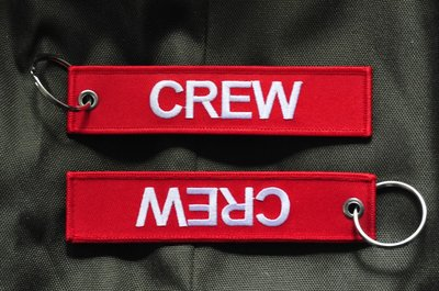 Crew Keyring Keychain embroidered