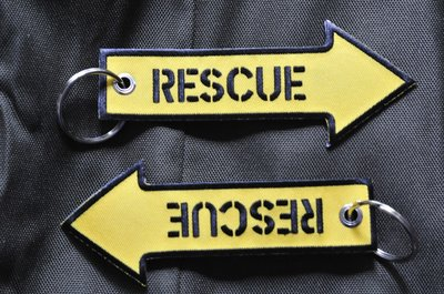 Rescue Keychain Keyring Embroidered