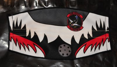 Flight helmet visor cover 78th Fighter Squadron