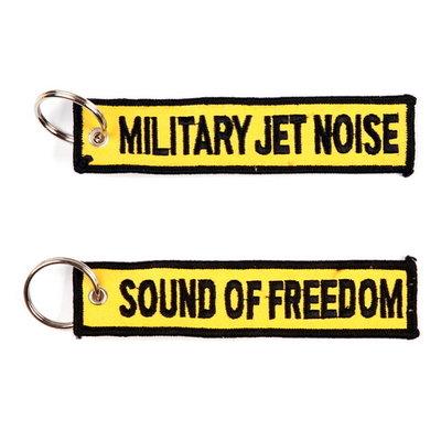 Military Jet Noise Sound of Freedom Keychain Keyring