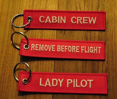 set 3: Remove Before Flight Keychains Keyrings Key Chains 3 different keyrings