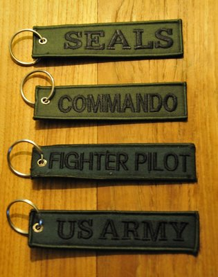set 5: Remove Before Flight Keychains Keyrings Key Chains 4 different keyrings