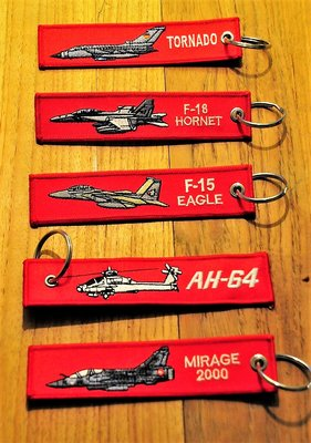 set 8: Remove Before Flight Keychains Keyrings Key Chains 5 different keyrings