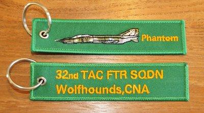 F-4E Phantom 32nd TFS Wolfhounds keyring keychain