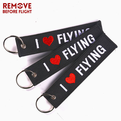 I love flying keyring keychain