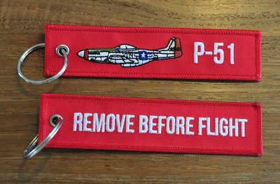 P-51 Mustang keychain keyring