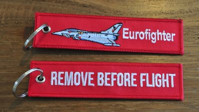 EUROFIGHTER  REMOVE BEFORE FLIGHT keychain keyring