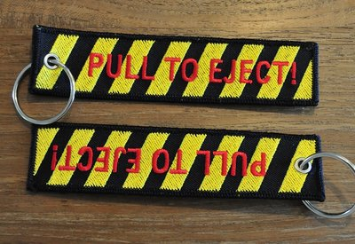 PULL TO EJECT keychain keyring
