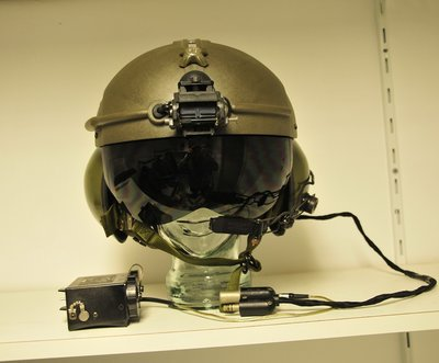 Gentex SPH-4 flight helmet with Night Vision Goggle NVG mount & NVG battery box
