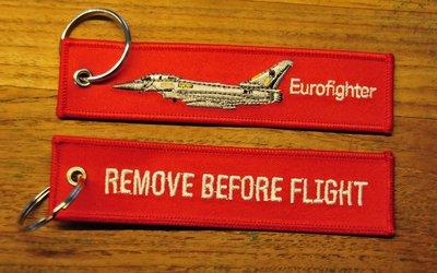 EUROFIGHTER  REMOVE BEFORE FLIGHT keychain keyring