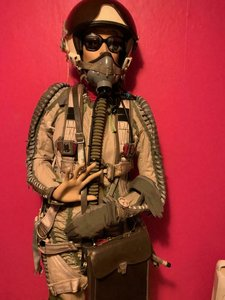 Mig-29 pilot with complete outfit ZSh-5 flight helmet, KM-34 mask, fully Mig-29 pilot equipment