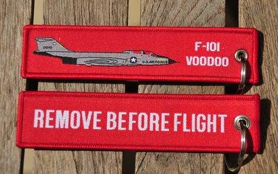 F-101 Voodoo keyring keychain bagage label