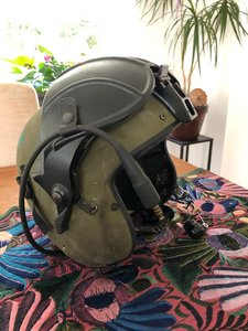 Gentex Alpha 200 helicopter flight helmet with NVG mounted size Small