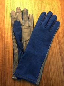 Nomex Fighter Pilot Gloves (the Blue Angels blue)