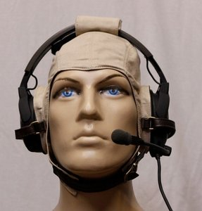 Headset flying helmet