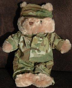 Teddy bear in military uniform - small