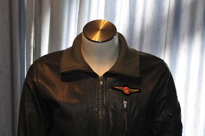 leather KLu flight jacket F-104 Starfighter period size 48 original