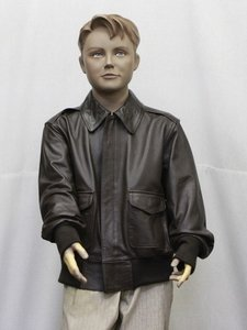 leather A-2 flight jacket for kids SALE prices